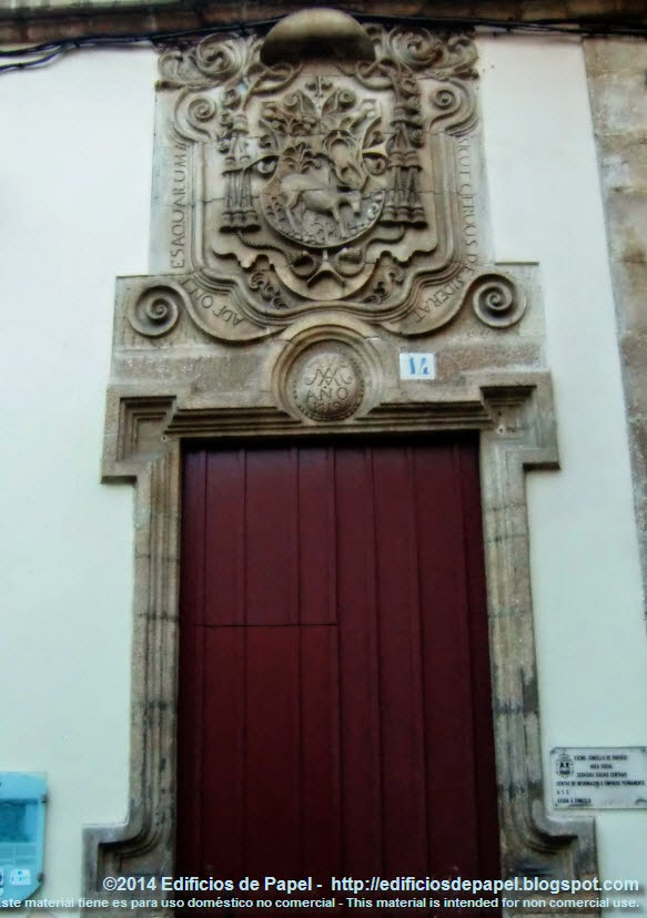 Ourense, Bishop Shield on the Episcopal Prison