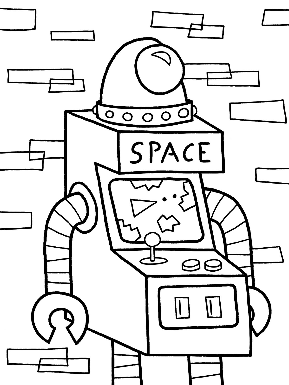 Free A Girl Robot Coloring Pages
