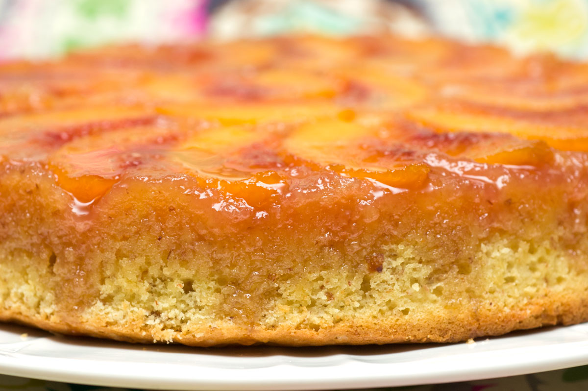 Sugar & Spice by Celeste: Peach-Almond Upside-Down Cake
