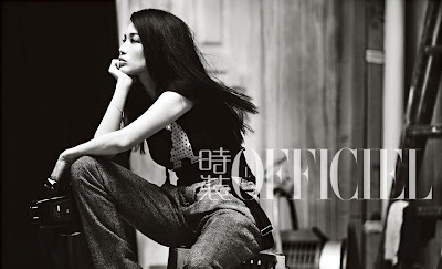 Shu Qi show lazy sexy in retro styling for L'OFFICIE cover photo