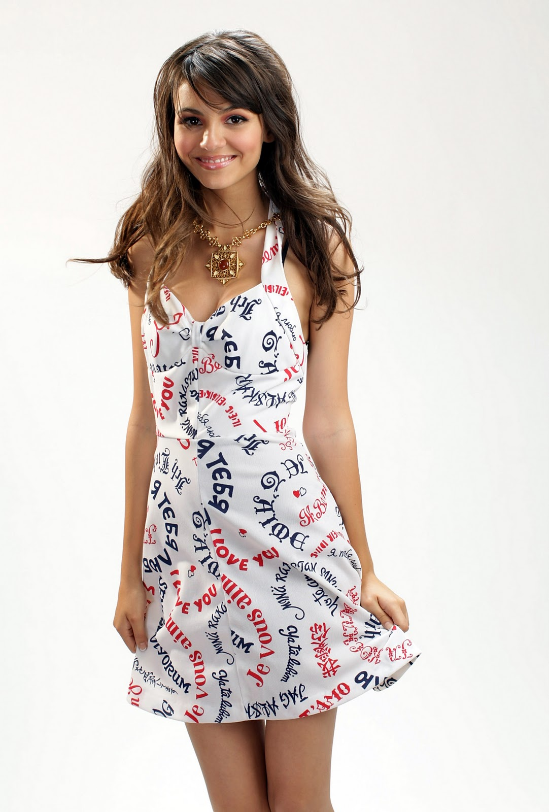 Victoria Justice Wearing Cute Dresses In Promotional Photoshoot