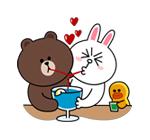 emoticones de parejas tomando jugo