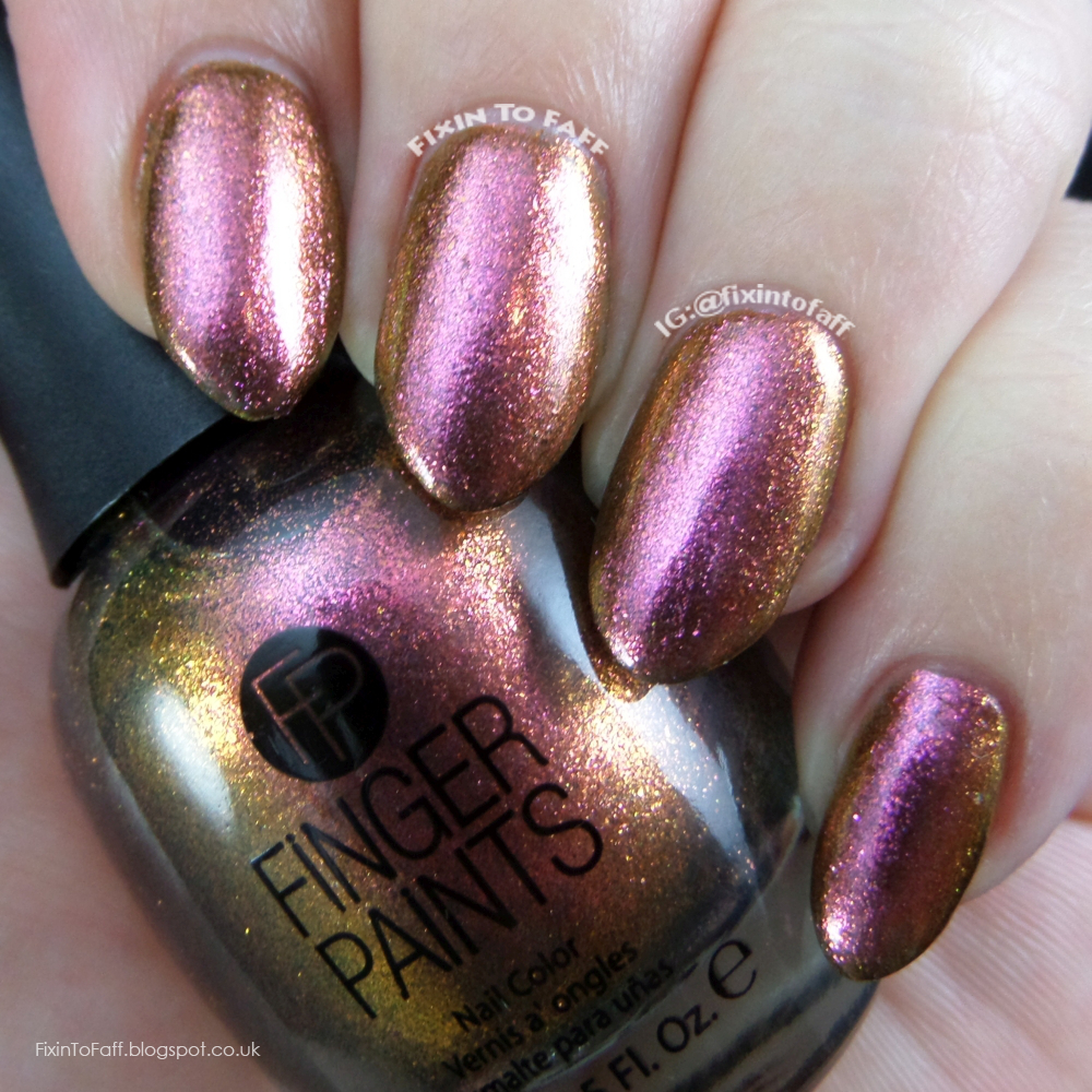 Swatch and review of Finger Paints Surreal Sunset.