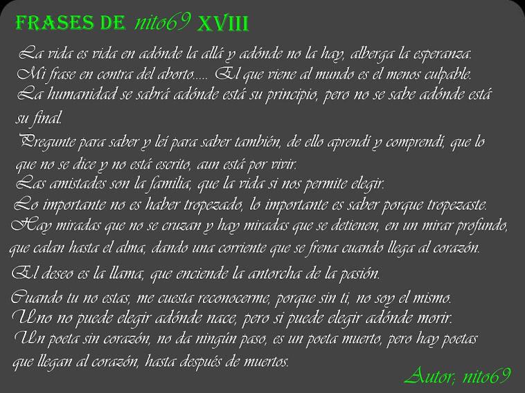 FRASES DE nito69 XVIII