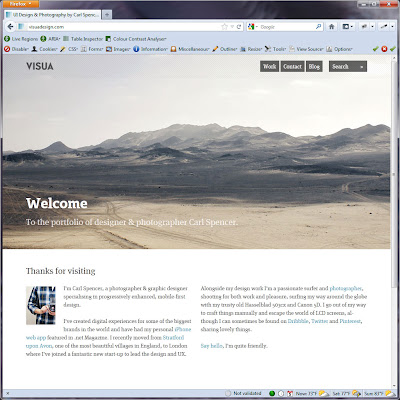 Screen shot of http://visuadesign.com/.