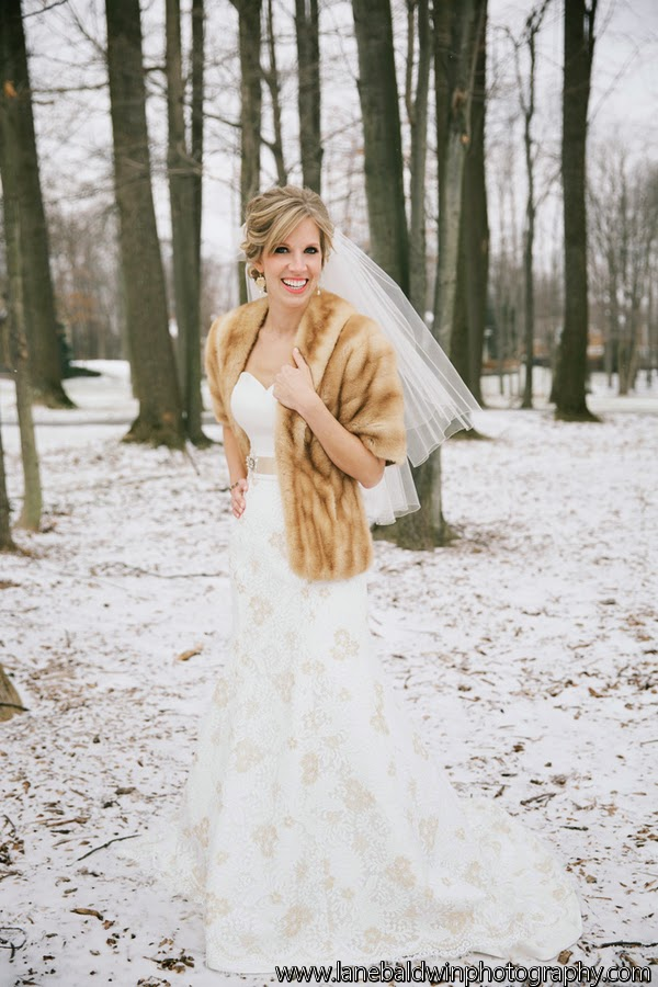 Cleveland Wedding Planner sparkly rustic woodland winter wedding