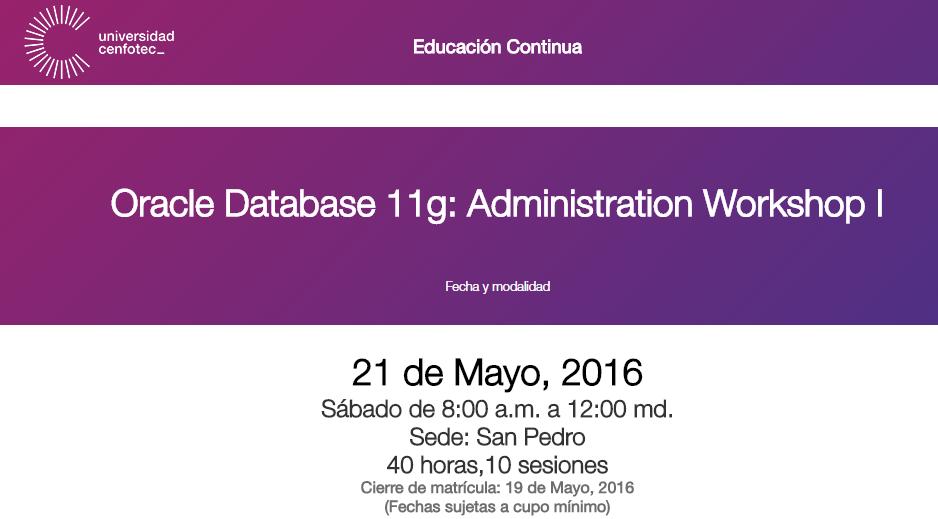 Aprende Oracle Database en Cenfotec