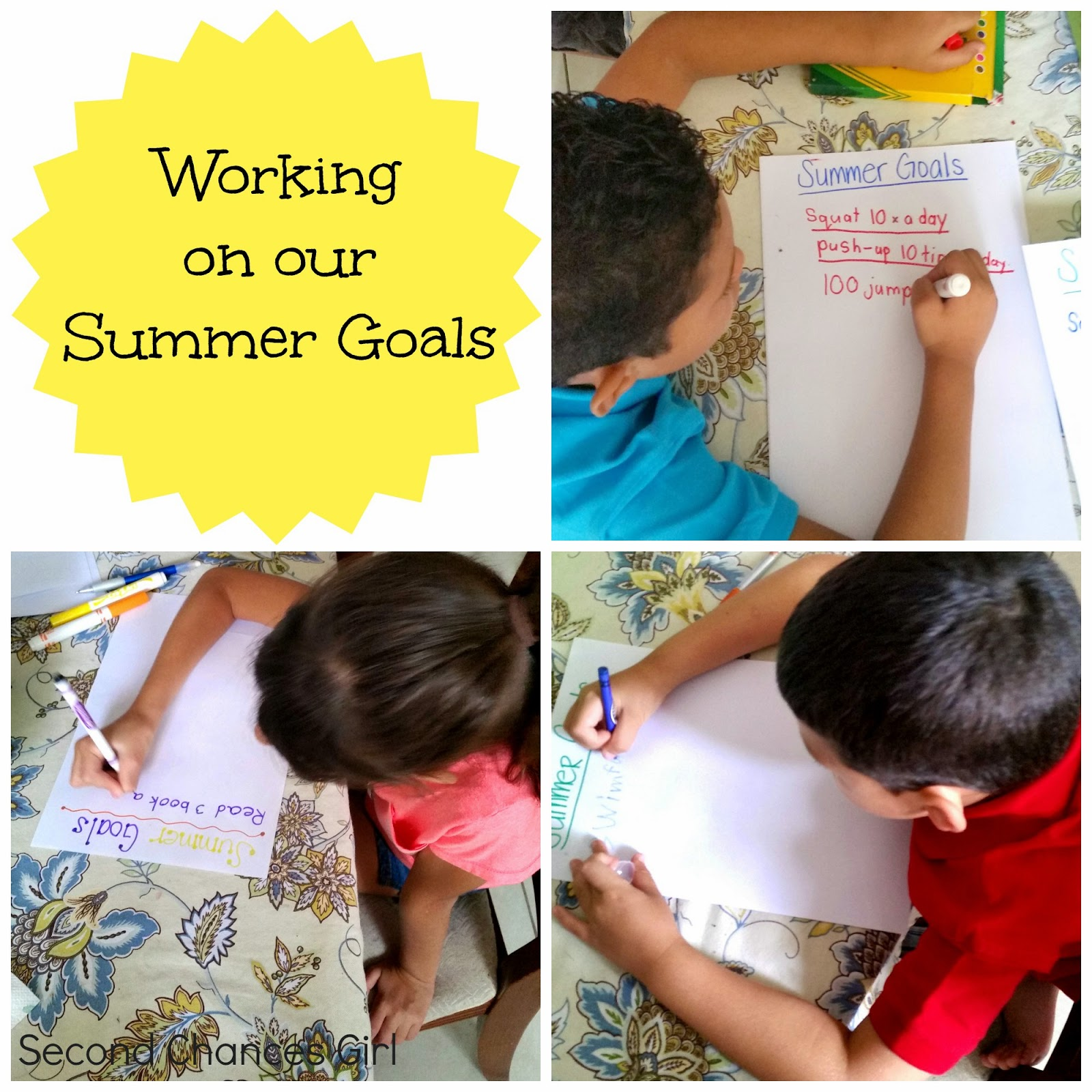 Working on our summer goals and FREE printable