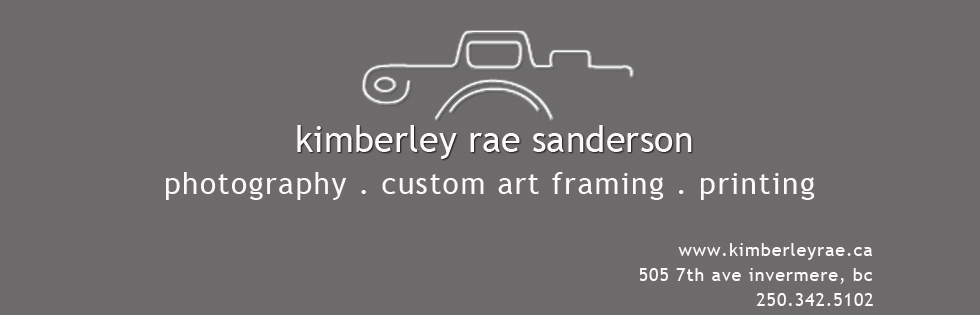 kimberley rae sanderson: invermere photographer- picture framing- printing