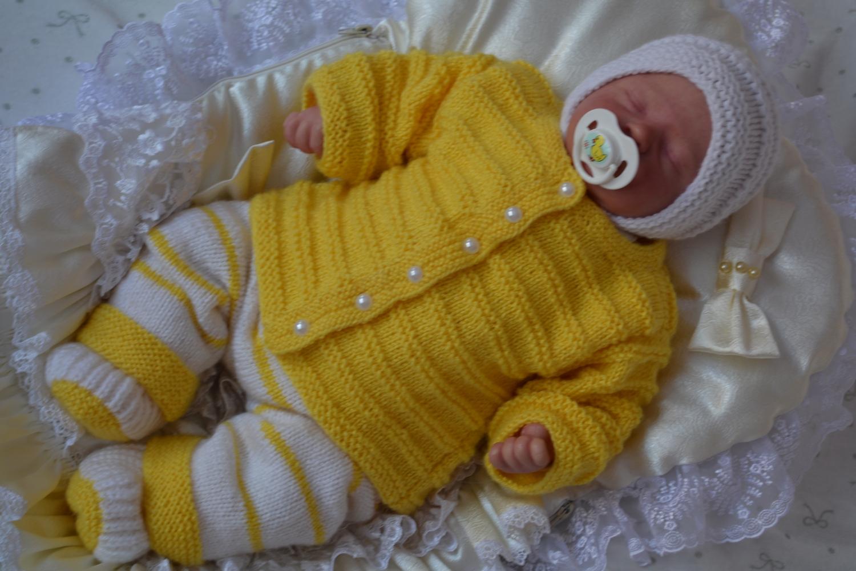 Вязание спицами комплект для новорожденных мальчиков