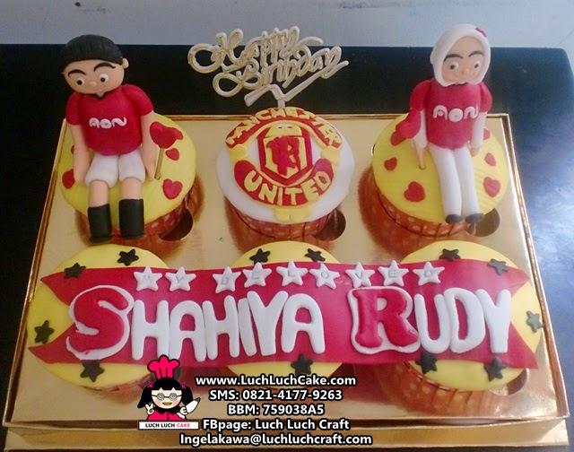 Cupcake Ulang Tahun Tema Manchester United