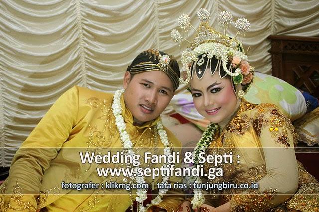 Pernikahan SEPTI & FANDI akan tersimpan dalam Digital Online Photo Album dengan Domain : www.septifandi.ga