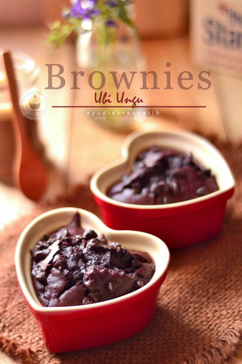 Brownies Ubi Ungu [Gluten Free]