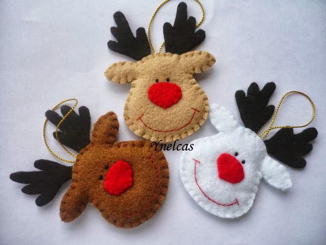 Diy h galo usted misma adornos de navidad en fieltro - Figuras de fieltro para navidad ...