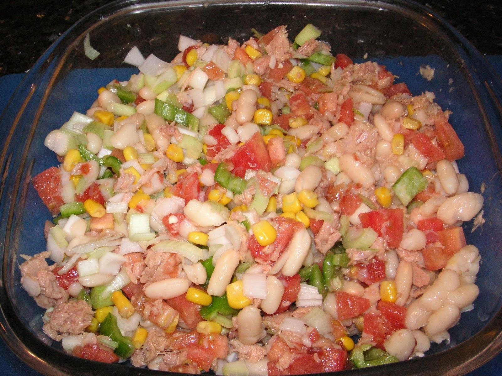 Entre brochas y pucheros ensalada de alubias - Ensalada de alubias ...