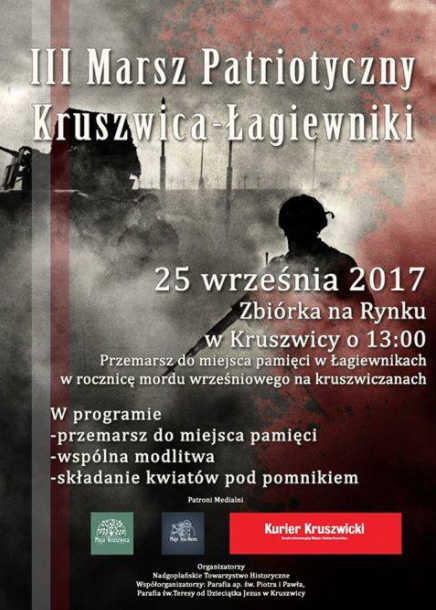 Zapraszamy na III Marsz Patriotyczny Kruszwica-Łagiewniki.