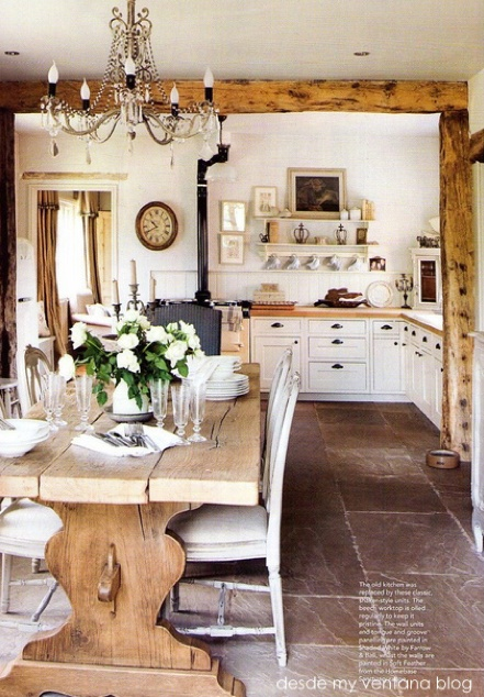 26 fabulous farmhouse kitchens the cottage market for Farmhouse kitchen design pictures