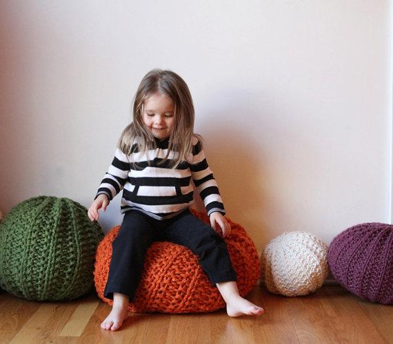 Etsy Knit Pouf