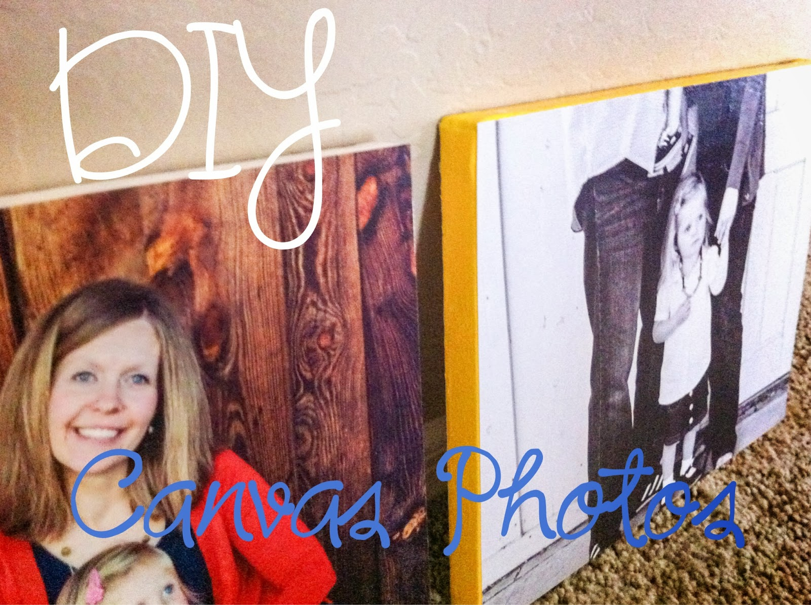 DIY Canvas Photos. Transfer photo to canvas using Mod Podge- Alohamora http://alohamoraopenabook.blogspot.com/