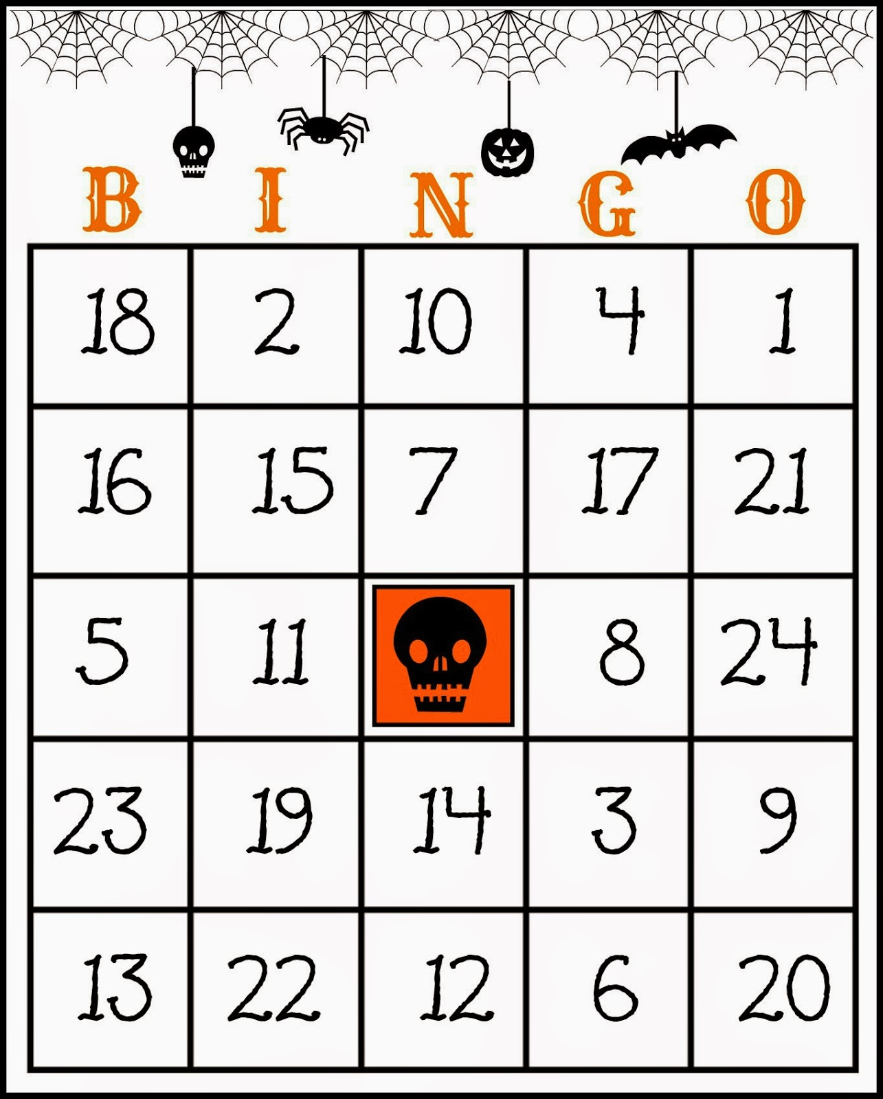 image relating to Free Printable Halloween Bingo Cards named Cunning within just Crosby: Absolutely free Printable Halloween Bingo Recreation