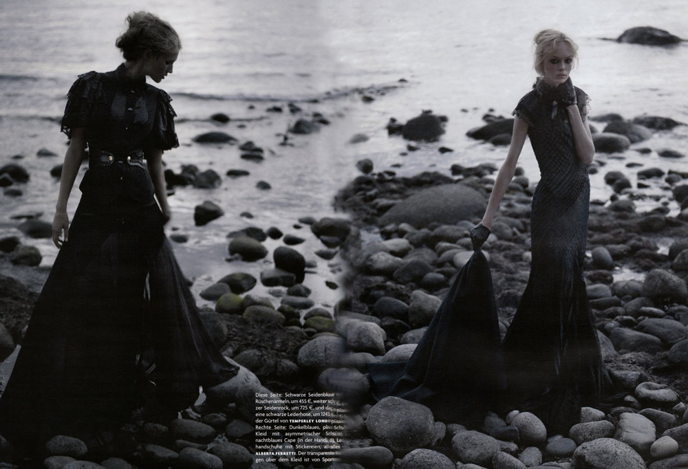 Vogue Germany October 2008 (photography: Karl Lagerfeld)