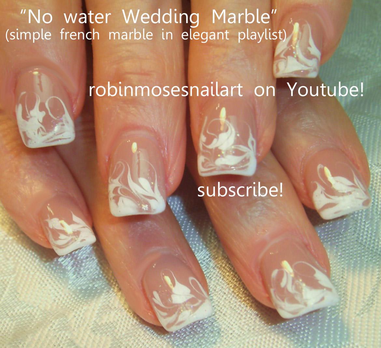 No water wedding marble nail art robin …