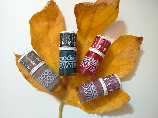 Models Own Twilight HyperGel Collection, L-R shades: Grey Storm, Deep Sea, Marsala, Heather
