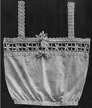 The Vintage Pattern Files Free 1920's Crochet Pattern - Camisole With Crocheted Silk Lace