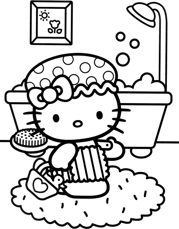 Coloring Pictures Of Hello Kitty To Print