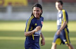 Dayro Moreno anotó en el entrenamiento de Colombia