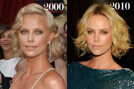 chatter busy charlize theron plastic surgery