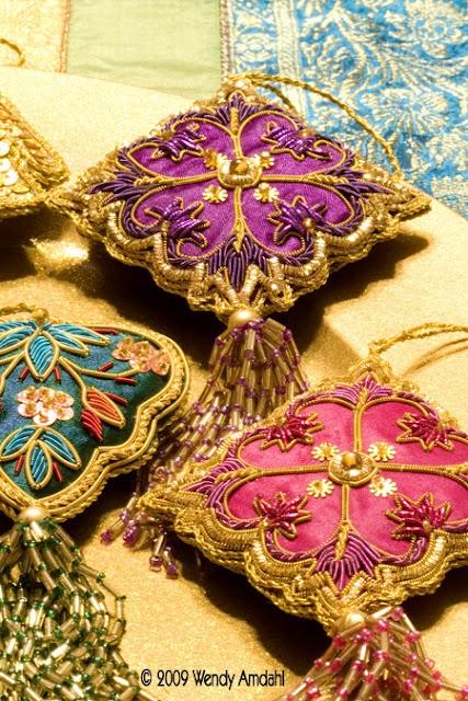 Bohemian Christmas ornaments