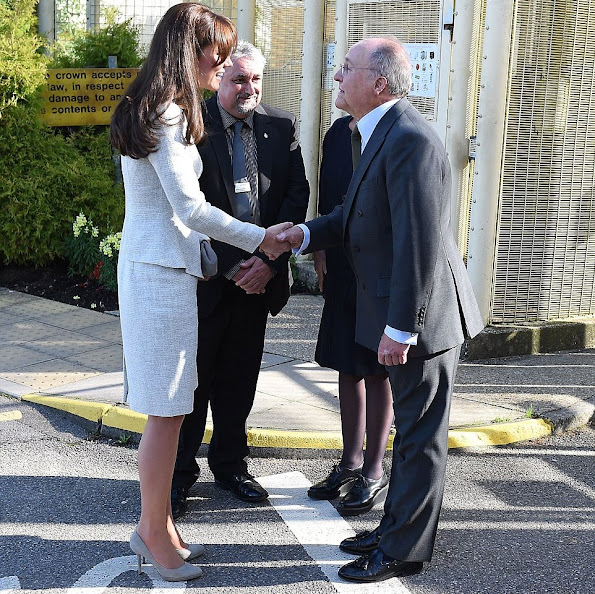 Catherine, Duchess of Cambridge visited a rehabiltation centre at HMP Send