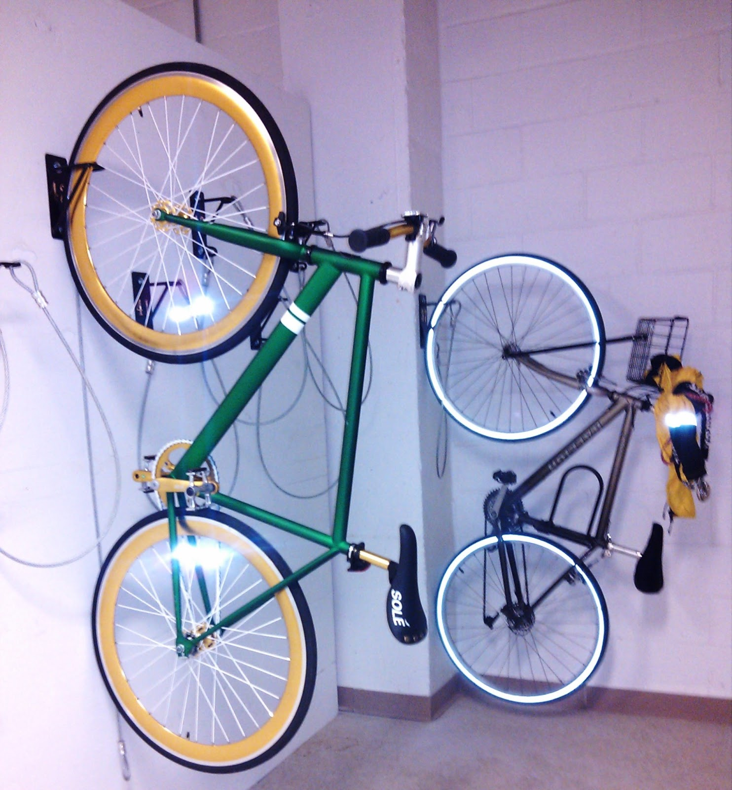 Wall Mount Bike Racks How To Organize A Space Efficient Bike Room