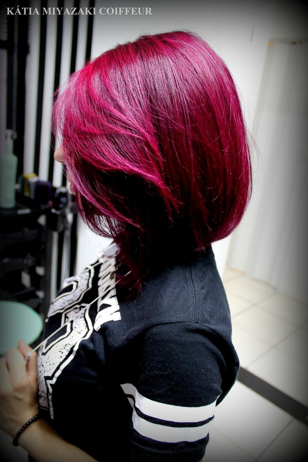 Katia Miyazaki Coiffeur: Cabelo colorido - cabelo roxo ...