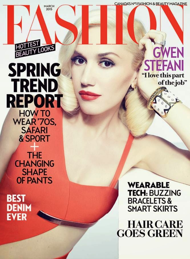 Singer, Songwriter, Fashion Designer, Actress: Gwen Stefani by Williams & Hirakawa for Fashion Canada