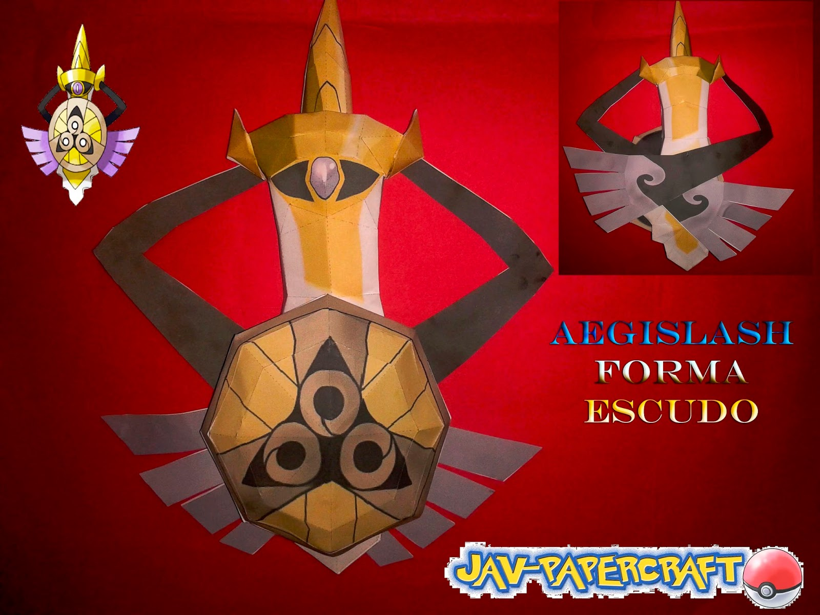 Pokemon Aegislash Papercraft