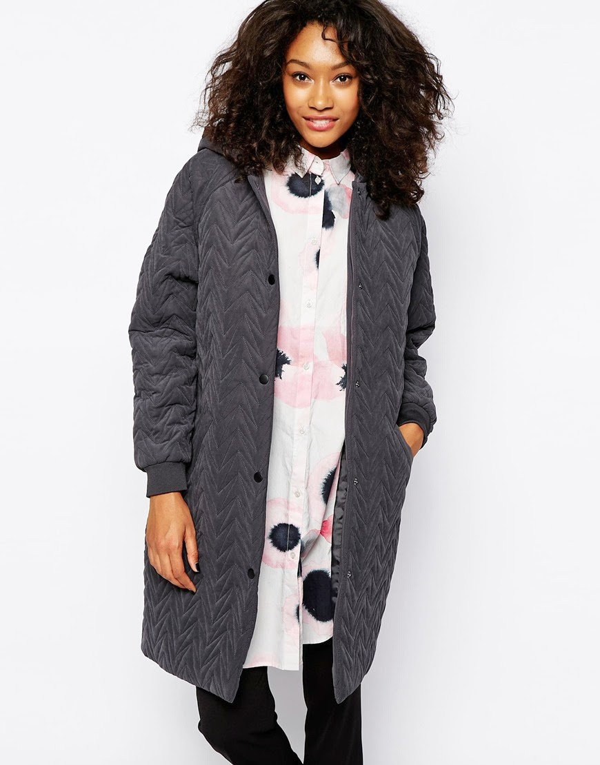 grey monki hooded coat