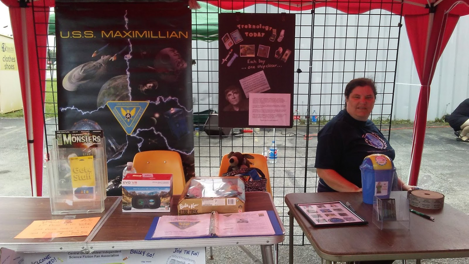 Our Booth at a Starbase Columbus Event  September, 2016
