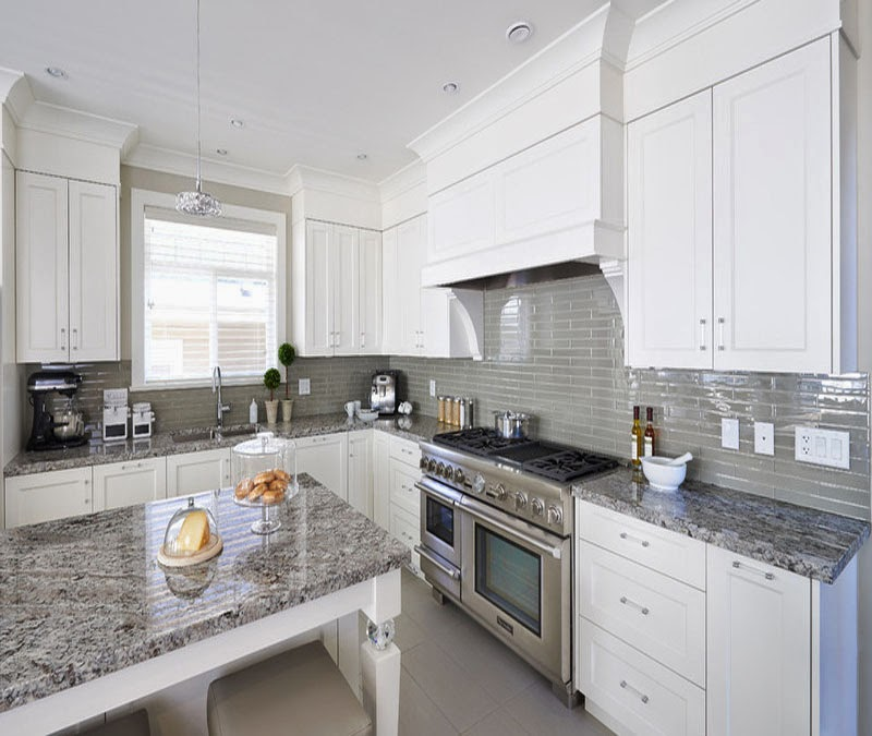 White Cabinets Gray Subway Tile Kashmir White Granite: Simplifying Remodeling: What Goes With Granite Counters?