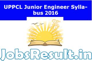 UPPCL Junior Engineer Syllabus 2016