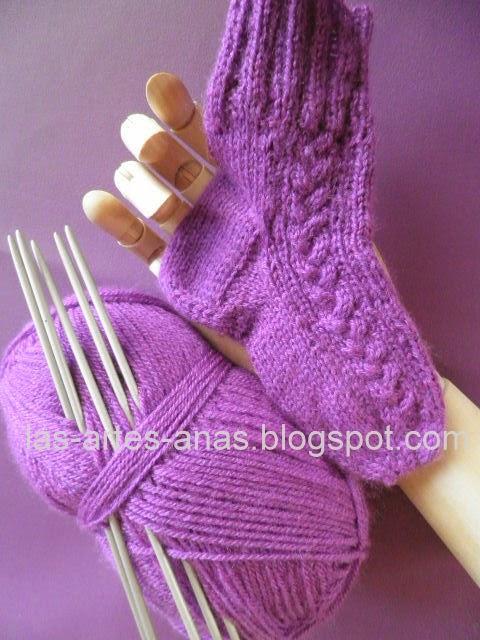 Artes anas calcetines 5 agujas montar puntos 1 de 3 - Como hacer calcetines de punto ...