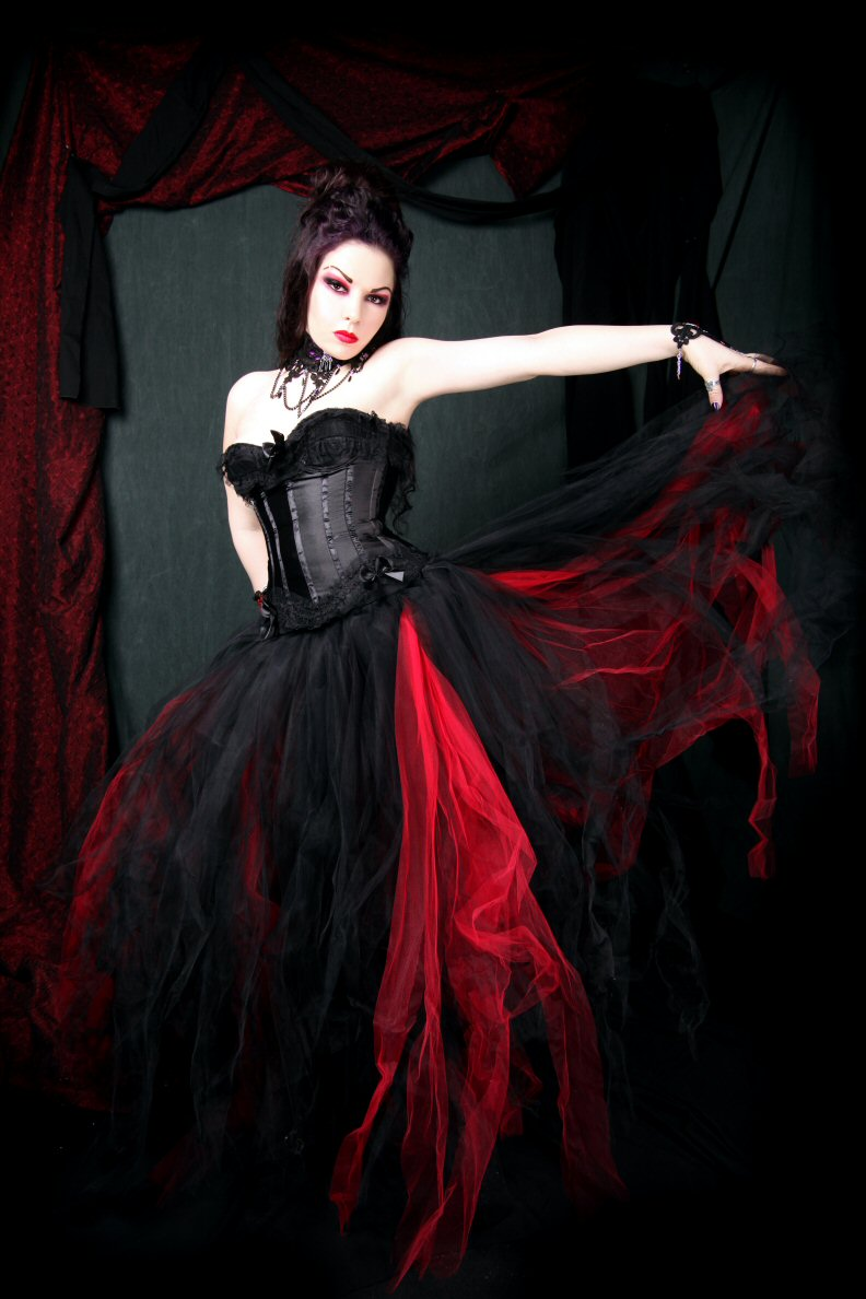black and red wedding dresses design