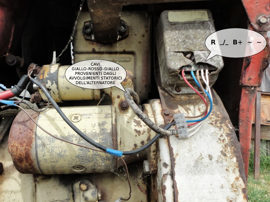 Schema Elettrico Dinamo E Regolatore : Andrea urbini homepage ripristinare impianto elettrico