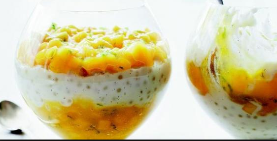 Pearl Sago + Mango With Caramel