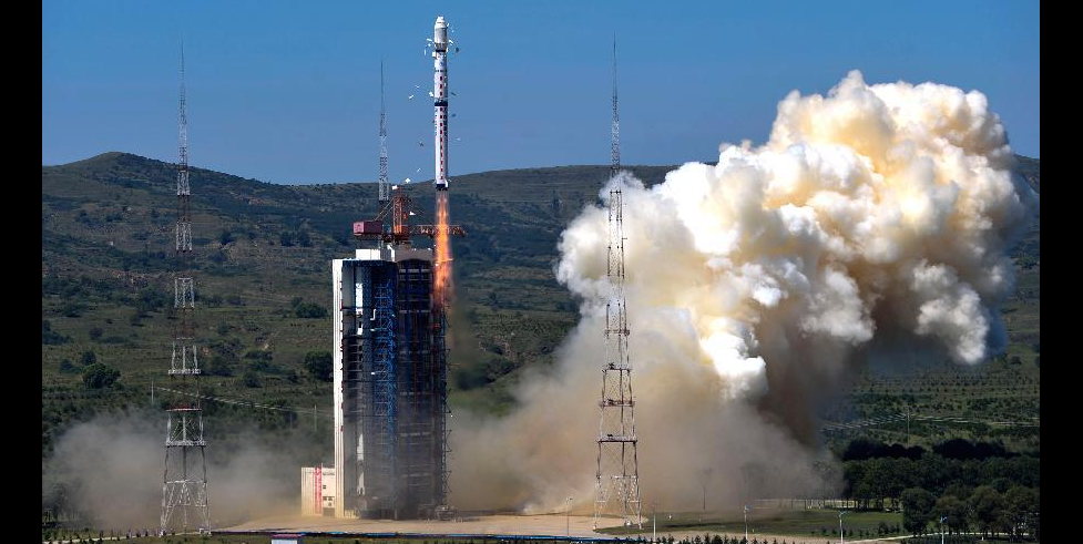 A Long March-4B carrier rocket blasts off from the launch pad at the Taiyuan Satellite Launch Center in north China's Shanxi Province, Aug. 19, 2014. Credit: Xinhua/Liu Chan