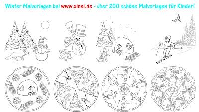 Winter-Mandalas im kidsweb de - Winter Malvorlagen Zum Ausdrucken