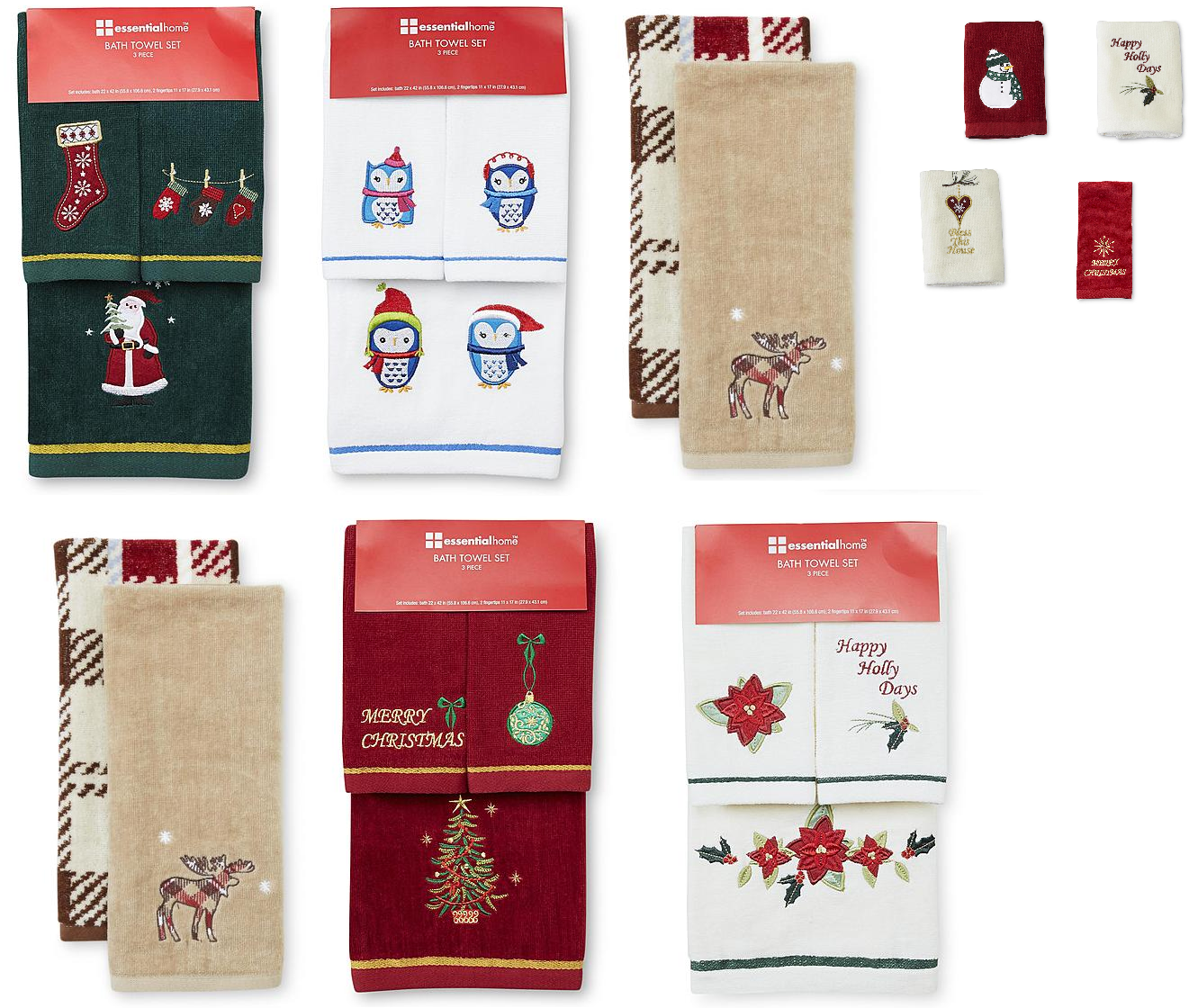 Coupons And Freebies: Christmas Towels Sale: Fingertip Towels ...