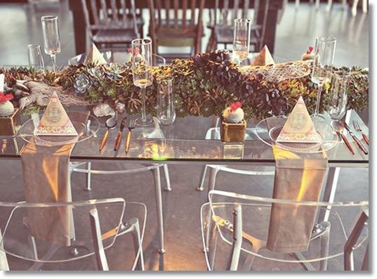 succulenter, dukning succulenter, succulents, table runner succulents, tablet top succulents, table setting succulents, häftig dukning