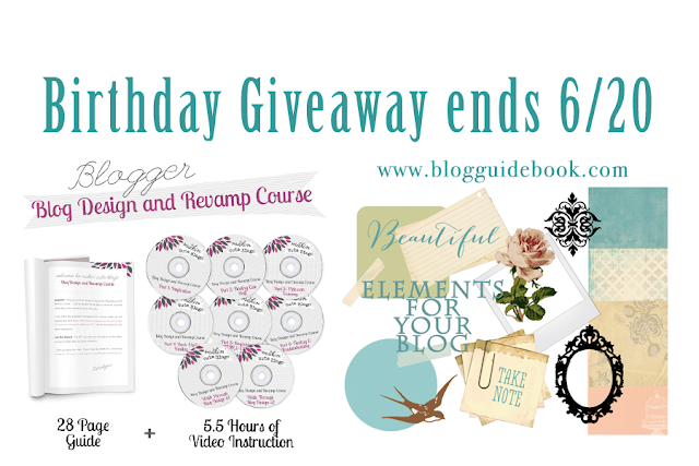 Giveaway at The Blog Guidebook, ends 6/20/13 Design your own blog + elements